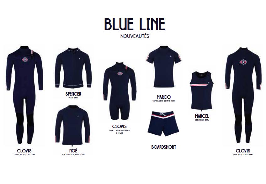 Saint Jacques wetsuits - Blue line