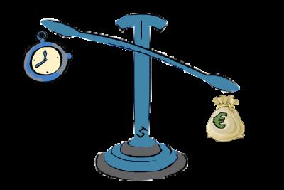 Scuola kite-bilancia-soldi-e-tempo