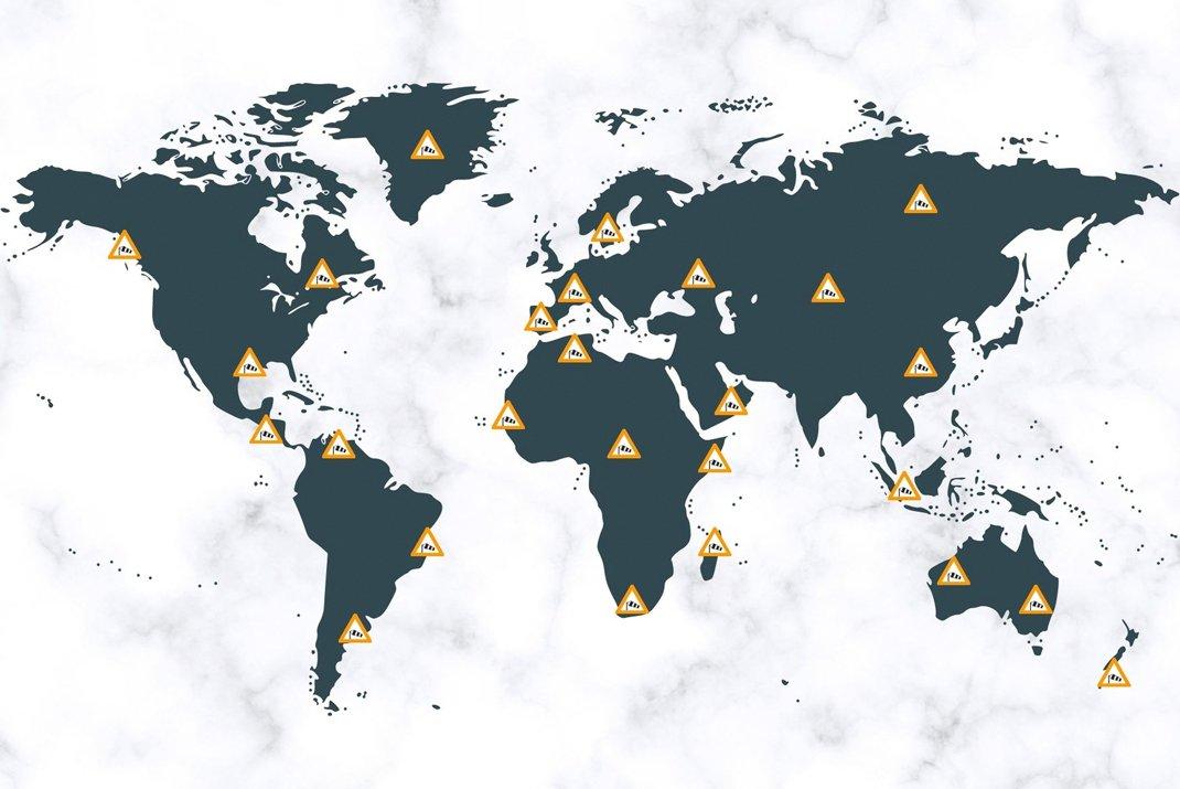 Mappa degli spot di kitesurf in Francia e all'estero